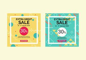 Instagram Sale Template Vector