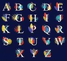 Autumn Alphabets Vector Pack