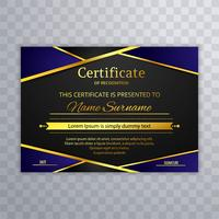 Beautiful stylish certificate template design