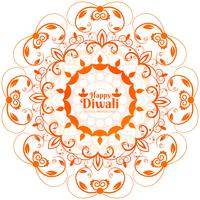 Abstract shiny beautiful diwali background