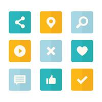 Iconos de redes sociales Set Collection
