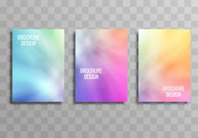 Modern colorful business brochure template vector