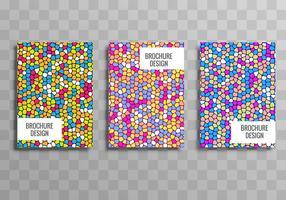Elegant colorful business brochure template set