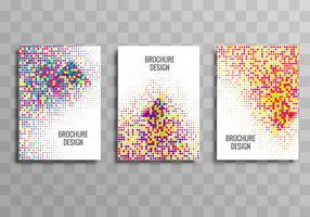 Abstract colorful business brochure dotted template set design