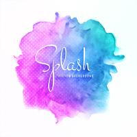Abstract colorful splash watercolor background vector