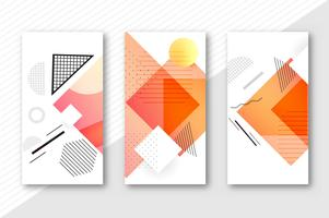 Abstract geometric banners set template vector illustration