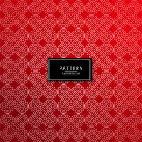Abstract decorative geometric red pattern background