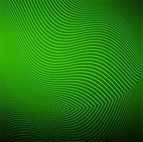 Modern green line wave background vector