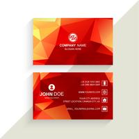Beautiful geometric colorful business card template vector
