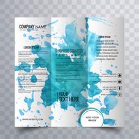 Modern trifold brochure design