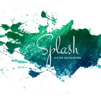 Hand drawn watercolor splash background vector