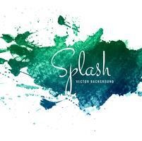Hand drawn watercolor splash background vector