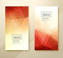 Modèle d'affaires coloré abstrait défini en-tête design