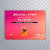 Abstract creative certificate of appreciation award template  vector