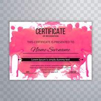 Zertifikat Premium-Vorlage Auszeichnungen Diplom bunte Aquarell