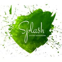 Modern hand drawn green watercolor splash background vector