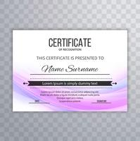 Certificat Premium Template Awards Diplôme de vague colorée illust