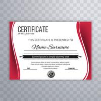 Certificate template luxury and diploma style wave design