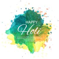 """Watercolor imitation multicolored background with """"Happy Holi"""" f"""