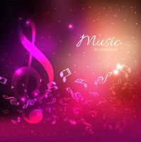 Abstract colorful backgrounds with shiny music notes elements de
