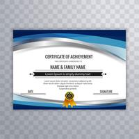 Modern certificate design template with wave