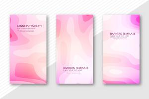 Abstract papercut header set template design