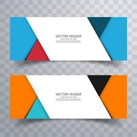 Abstract banner set design background or header templates vector