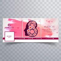 Women's day facebook cover with watercolor design