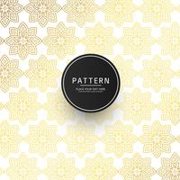 Seamless abstract floral ornament pattern with golden design