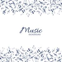 White musical background with blue notes