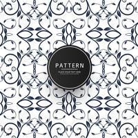 Seamless geometric creative floral pattern vector design