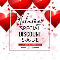 Beautiful valentine's day sale background illustration