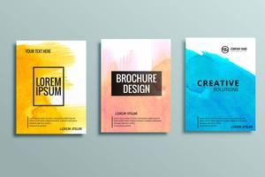 ensemble de brochures commerciales modernes