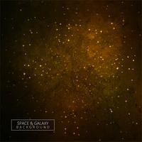 Golden galaxy background space nebula vector design
