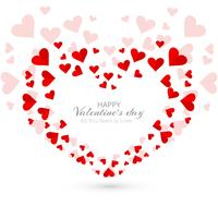 Abstract valentine's day hearts decorative background