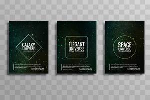 modern galaxy universe vector brochure cards set vector