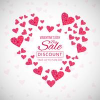 Creative valentine's day decorative hearts background illustrati