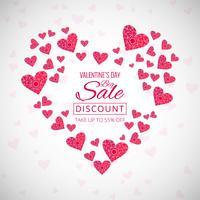 Creative valentine's day decorative hearts background illustrati