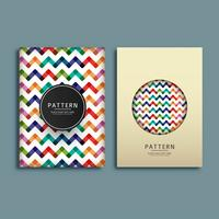 Abstract pattern brochure design