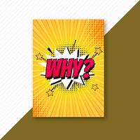 Pop art colorful comic brochure template vector