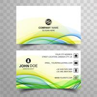 Abstract wave colorful business card template background