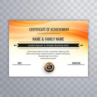 Abstract bright certificate with wave background