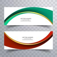 Abstract design background or header Modelli con wav creativo