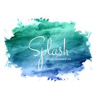 abstract hand drawn watercolor splash colorful background