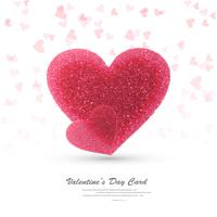 Beautiful hearts valentine's day card design illustration