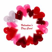 Happy Valentine's day colorful shiny heart background