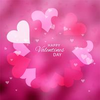Realistic valentine's day background vector