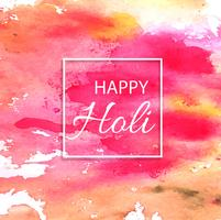 illustration de fond coloré Happy Holi abstrait