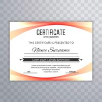 modern certificate template colorful wave design illustration
