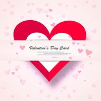 Valentine Day Gift Card Holiday Love Heart Shape Background